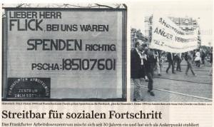 Bild aus FR Artikel zeigt eine Falz Aktion